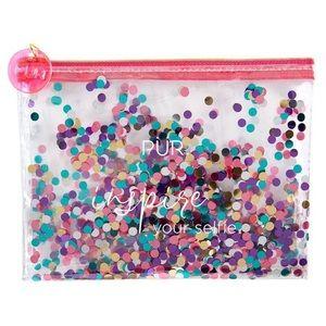 PÜR Inspire Your Selfie Confetti Makeup Bag
